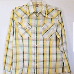 True Religion Mens Western Pearl Snap Shirt L